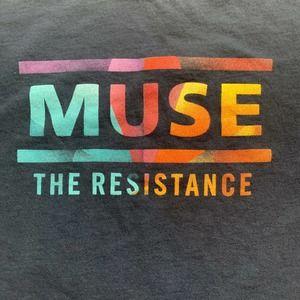 MUSE THE RESISTANCE 2010 Tour Concert T-Shirt  2X
